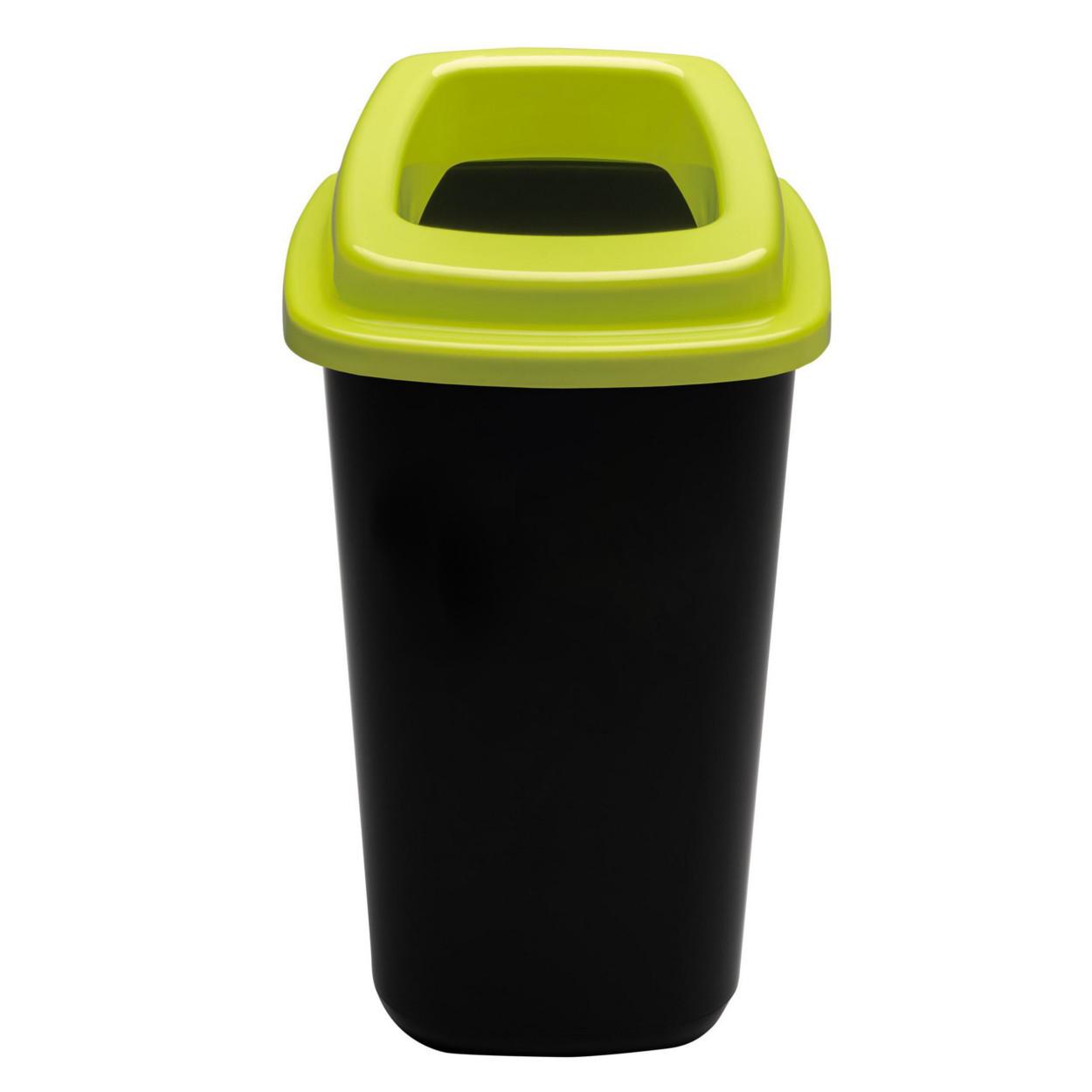 Plastový koš na tříděný odpad, 90 l, zelená