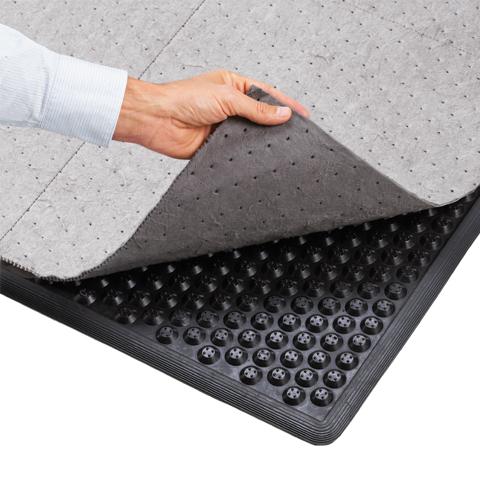 Protiúnavová ekonomická rohož s textilním sorbentem