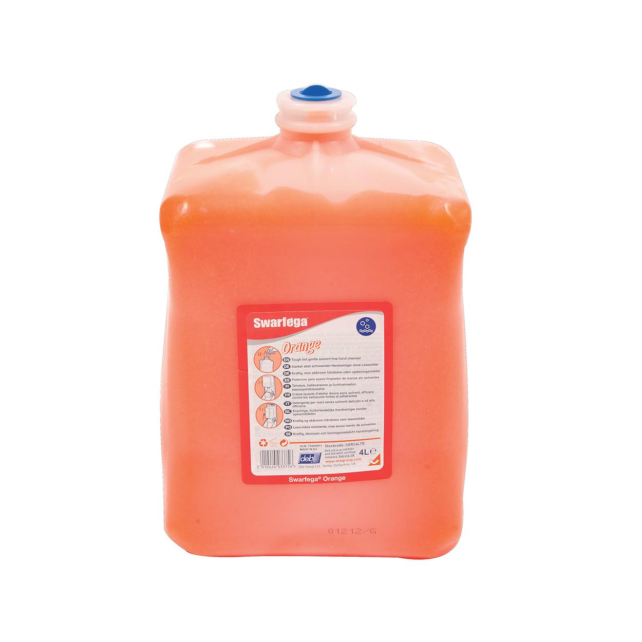 Jemný a účinný čistič rukou Swarfega Orange