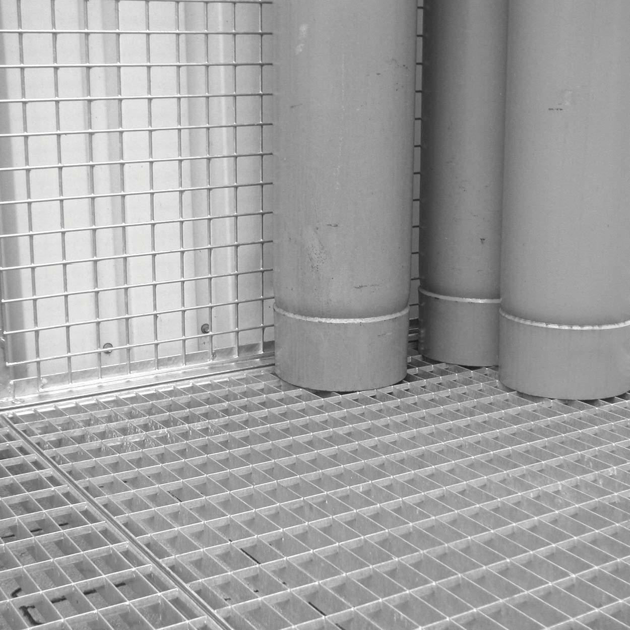 Rošt pro klece pro skladování tlakových lahví bez podlahy