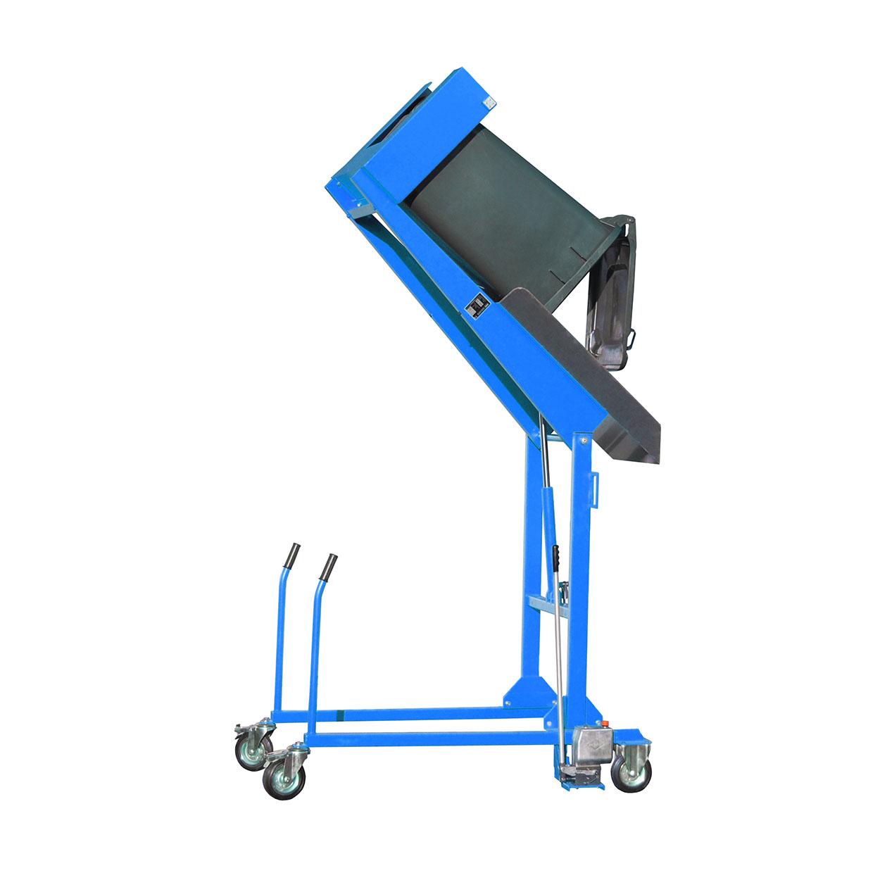 Pojízdný vyklápěč popelnic s ruční pumpou