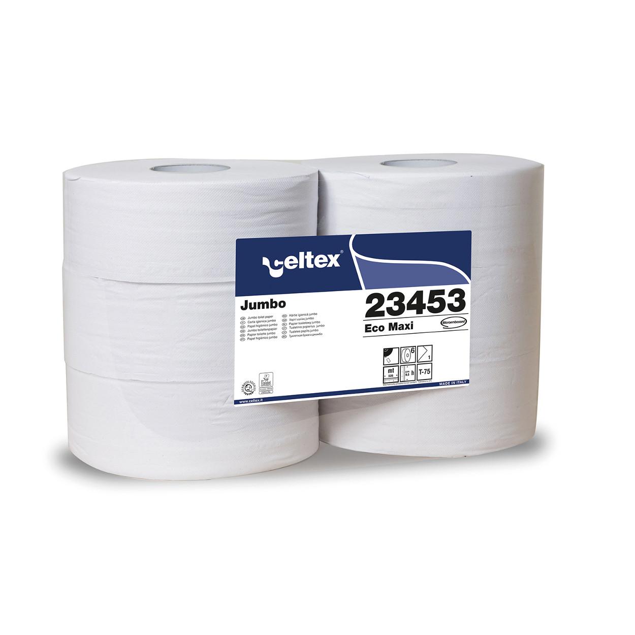 Toaletní papíry Jumbo MAXI Eco, bez perforace