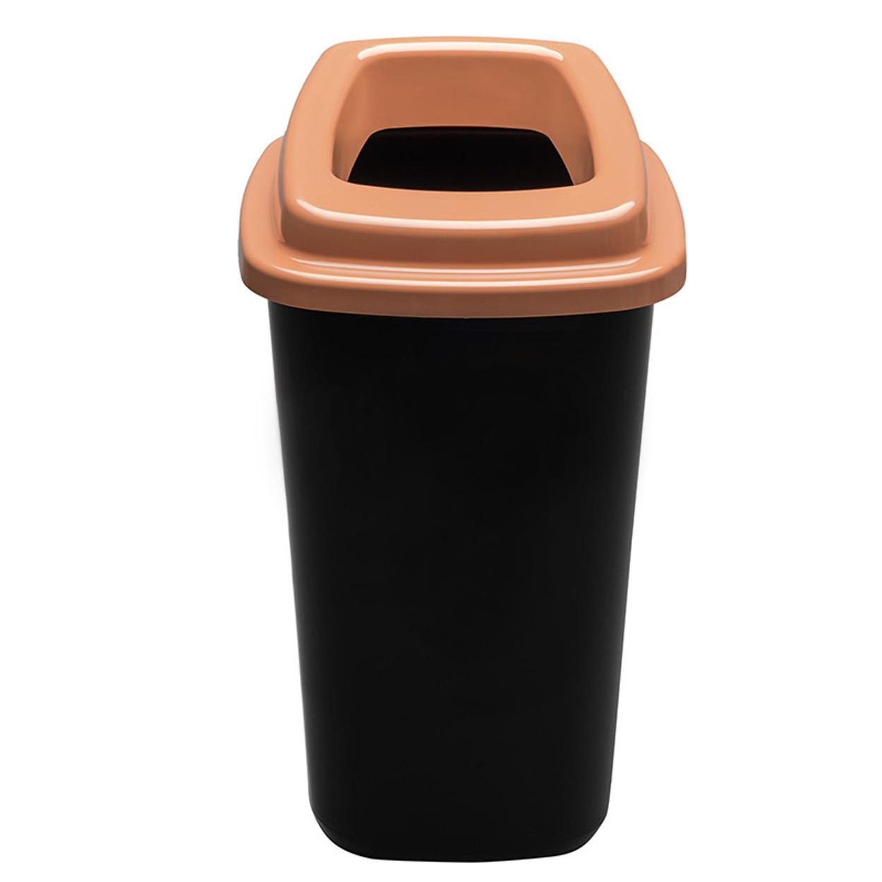 Plastový koš na tříděný odpad, 90 l, hnědá