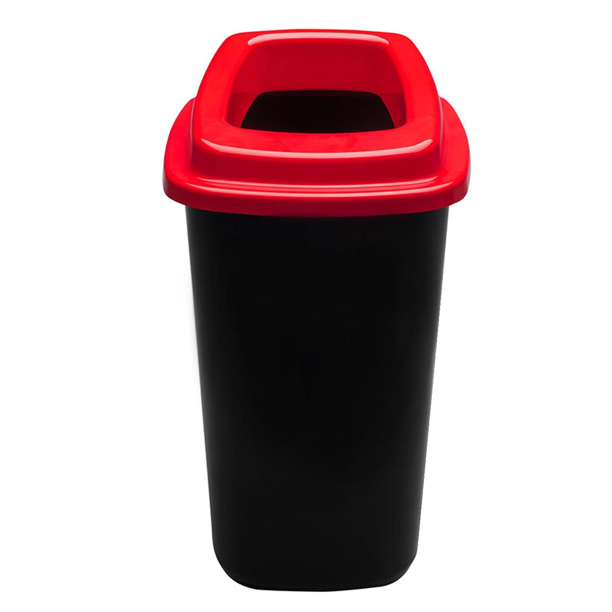 Plastový koš na tříděný odpad, 45 l, červená