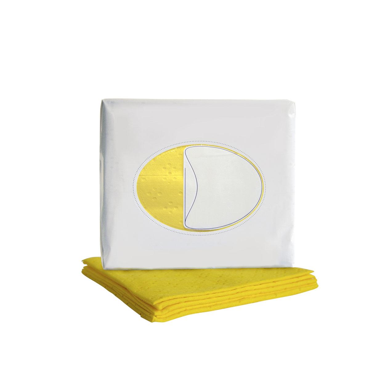 Barevná utěrka pro jemné čištění - žlutá
