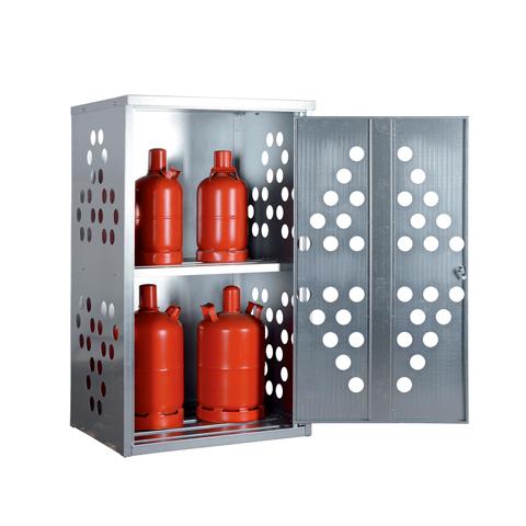 Skříň pro venkovní skladování malých tlakových láhví
