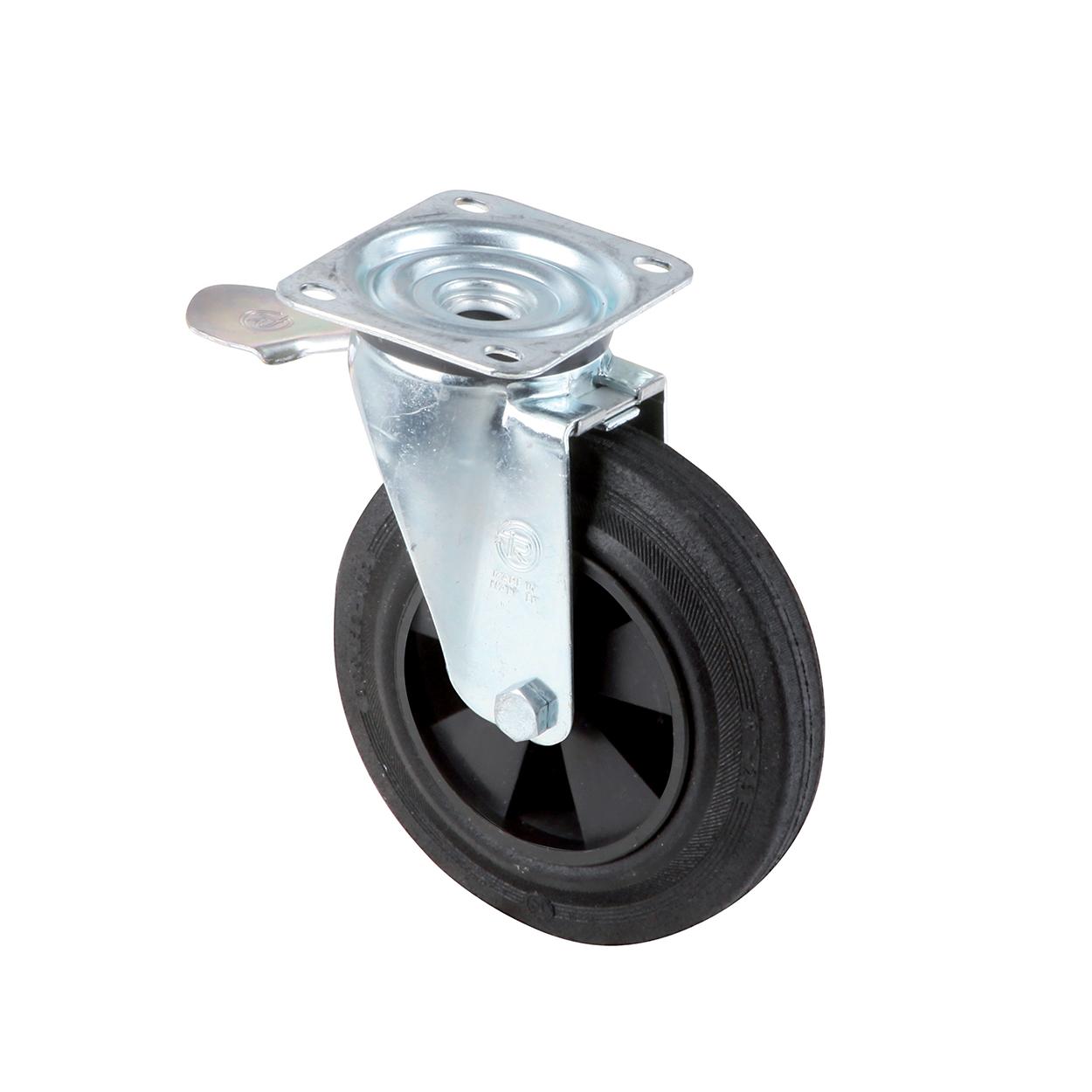 Otočné kolečko s brzdou k plastové nádobě