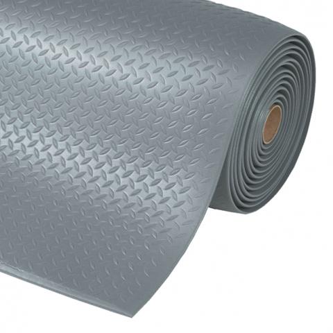 Protiúnavová průmyslová rohož s povrchem kotlářského plechu