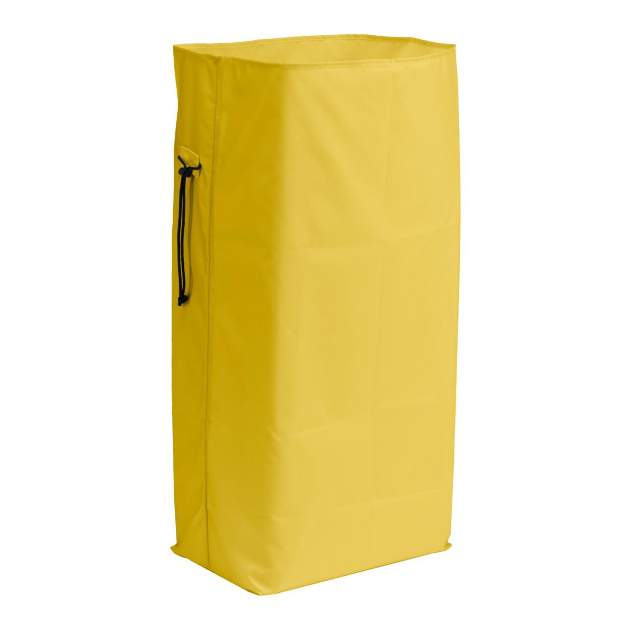 Polyesterový žlutý obal pro odpadkový pytel, 120 l