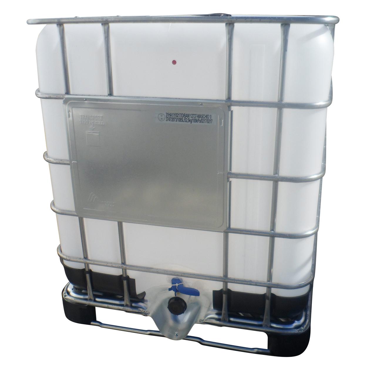 Nový IBC kontejner 1000 l, paleta kov/plast