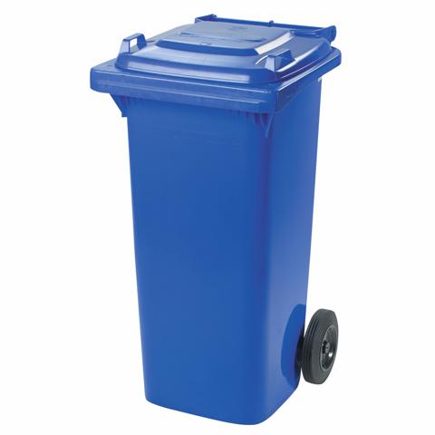 Plastová nádoba s kolečky modrá