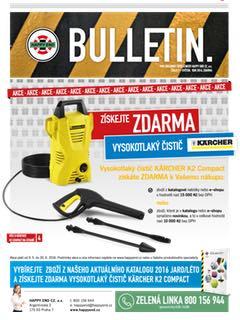 Bulletin - akce Vysokotlaký čistič Karcher zdarma